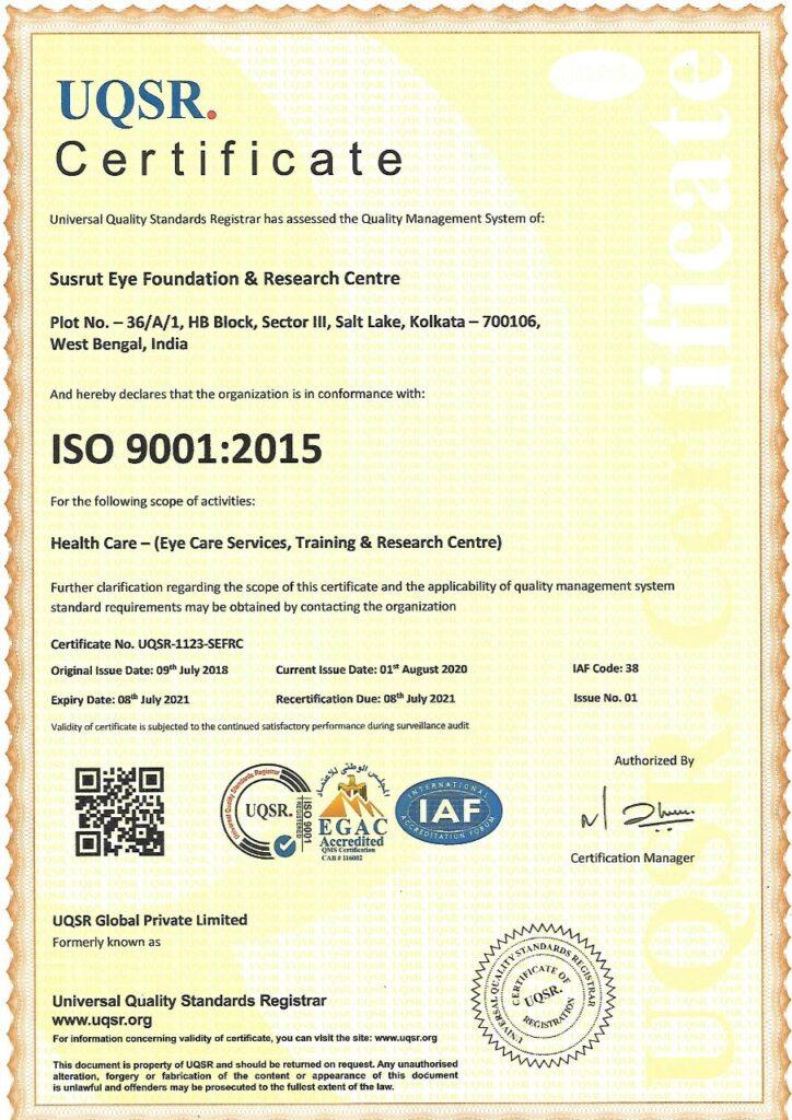 SUSRUT ISO Certificate